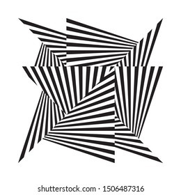 Abstract halftone lines background, trendy geometric dynamic pattern, vector modern design black and white texture.