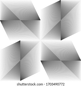 Abstract halftone lines light background, geometric dynamic pattern, vector modern design texture.