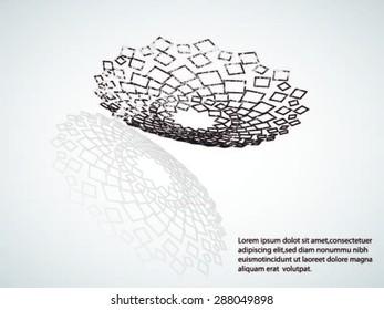 Abstract Halftone Logo Design Element. Vector illustration.