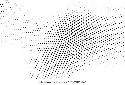 Abstract halftone radial