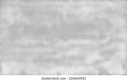 Abstract halftone radial black and white