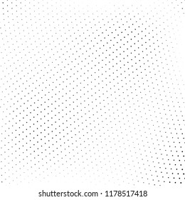 Abstract halftone wave dotted background. Futuristic twisted grunge pattern. Vector pop art texture for posters, business cards, cover, labels mock-up, stickers layout