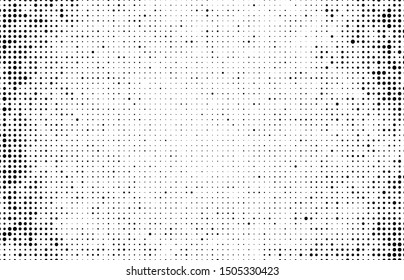 Abstract halftone wave dotted background. Monochrome texture of dots for printing