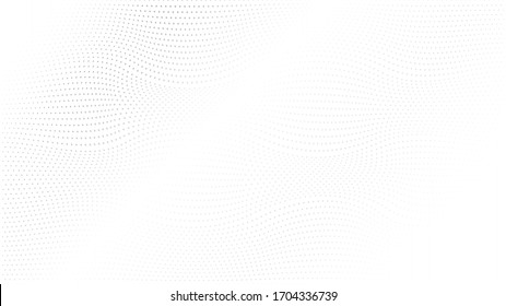 Abstract halftone wave dotted background. Modern monochrome background. Futuristic grunge pattern, dot, wave. Vector modern optical halftone texture for sites, poster, business card, cover