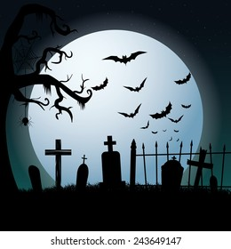 abstract halloween background with some special objects