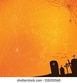 abstract halloween background, vector illustration