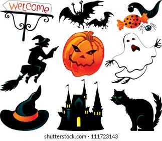 Abstract Halloween symbols