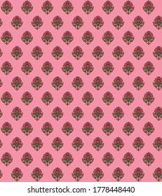 abstract hand block ajrakh motif background pattern