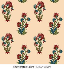 abstract hand block ajrakh print background pattern