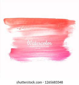 Abstract hand draw colorful watercolor strokes set design