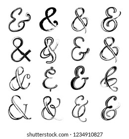 Abstract Hand Drawn Ampersand Symbol Vector Set