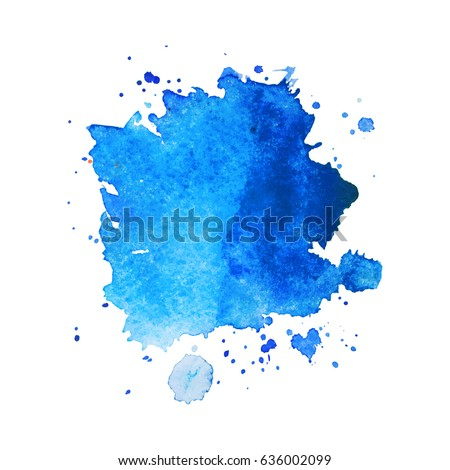 abstract hand drawn watercolor background vector stock vector