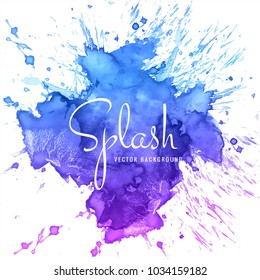 abstract hand drawn watercolor splash background