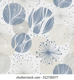 abstract hand drawn whimsical seamless background