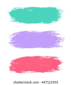 Abstract hand painted textured ink brush backgrounds, paint strokes with dry rough edges