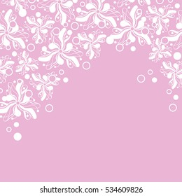 Abstract hand-drawn creative background of stylized flowers. Vector illustration.