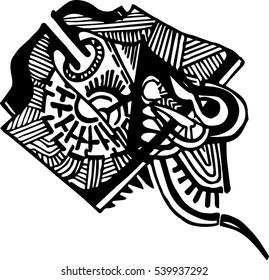 Abstract hand-drawn vector illustration