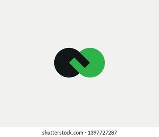 Abstract handshake chain vector symbol logo.  Partners deal icon logotype