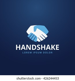 Abstract handshake logo . Business symbol icon.