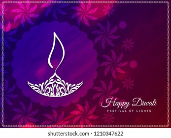 Abstract Happy Diwali artistic background