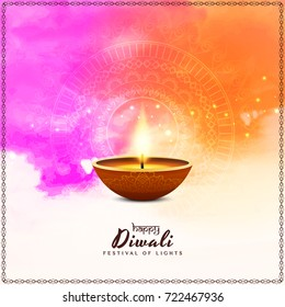 Abstract Happy Diwali colorful background