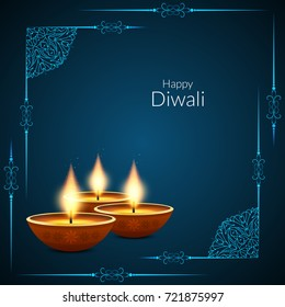 Abstract Happy Diwali elegant background