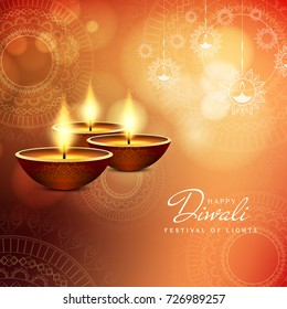 Abstract Happy Diwali stylish background;