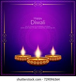 Abstract Happy Diwali stylish religious background