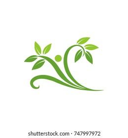 Abstract happy fun healthy figure logo design template vector