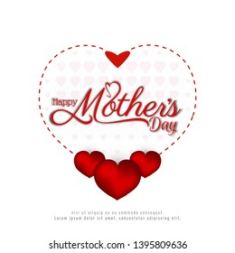 Abstract Happy Mother's day beautiful background vector