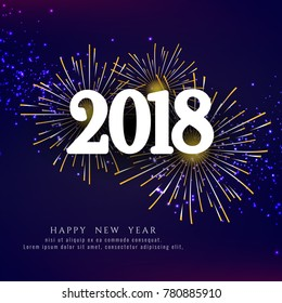 Abstract Happy New Year 2018 firework background