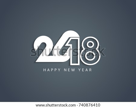 abstract happy new year 2018 elegant text design background