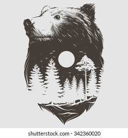 Bear Tattoo Images Stock Photos Vectors Shutterstock