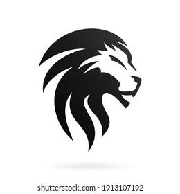 abstract head lion icon logo