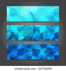 The Abstract Header Background for Design Work, Vector Illustration