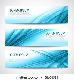 Abstract header blue wave white vector design