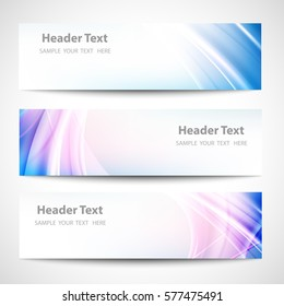 Abstract header blue wave white blue background vector design