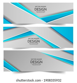 Abstract header colors shape vector design. Abstract corporate business banner web template, horizontal advertising.
