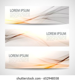 Abstract header orange wave white gray background vector design