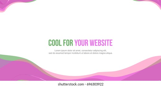Abstract header website pink wave