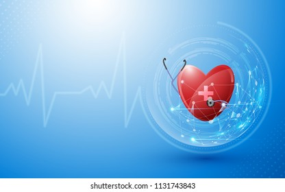 abstract health care innovation concept template background eps 10 vector