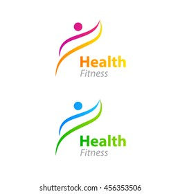 Abstract Health Fitness Logo