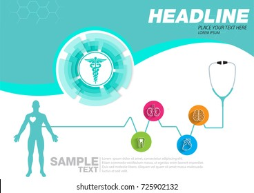 Abstract health medical background concept template design Vector Illustration.