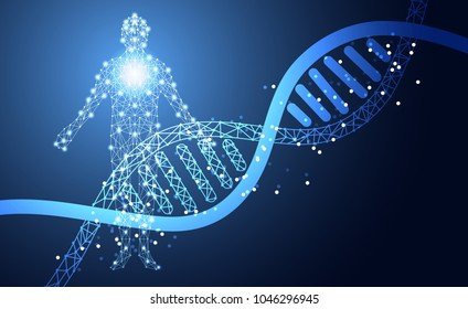 Abstract Health Medical Science Consist DNA Digital Technology Concept Modern Future CareTreatment