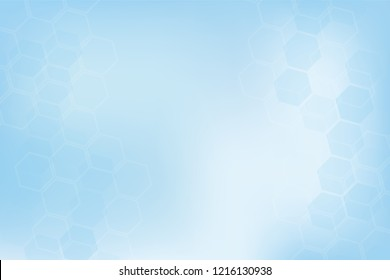Abstract healthy and medical background. Technology and science wallpaper template. Soft blue color. Business vector illustration