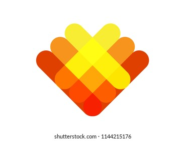 Abstract of a heart or a blooming flower. Editable clipart.