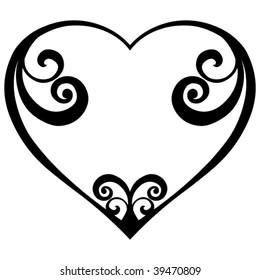 abstract heart design, vector illustration