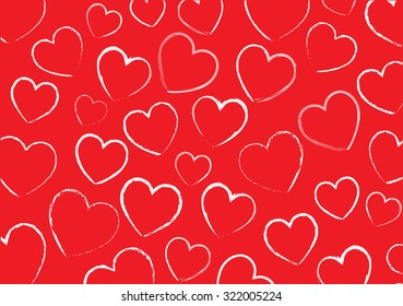 Abstract hearts background.Grunge hearts vector pattern.