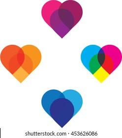 Abstract Heart/vector heart/unique heart