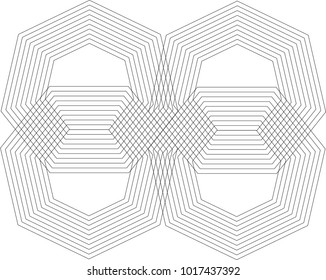 abstract Heptagon Pattern